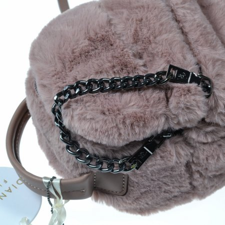 Damentasche Rucksack Minibag Altrosa fake fur