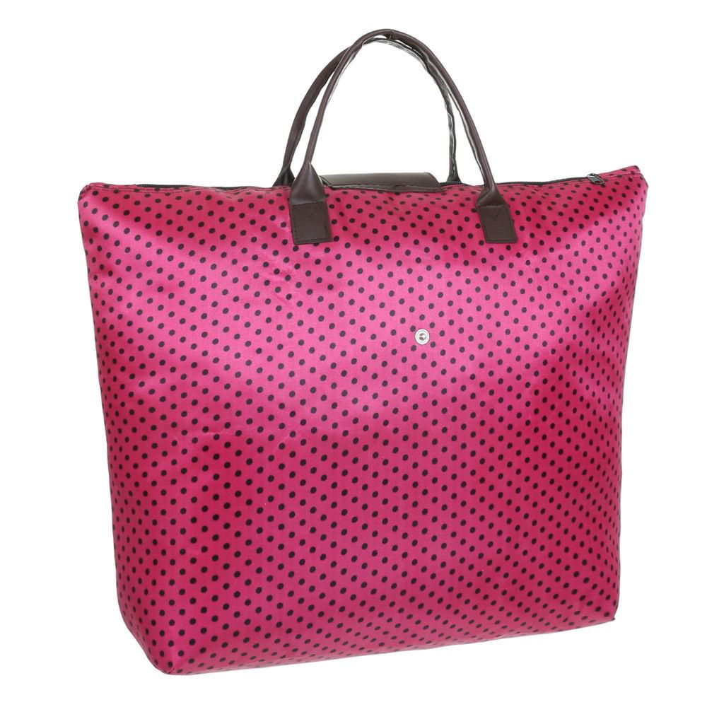 tasche pink schwarze punkte shopping bag faltbar aby fashion. Black Bedroom Furniture Sets. Home Design Ideas
