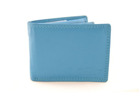 Geldbeutel Kleinformat Leder blau Geldbörse