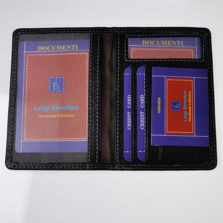 Dokumentenmappe schwarz Kreditkartentasche Herren handmade collection