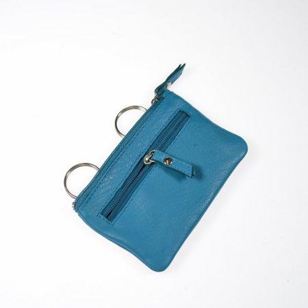 Von Tillberg Mäppchen Leder Schlüsseletui Farbe Royal Blue Münzfach
