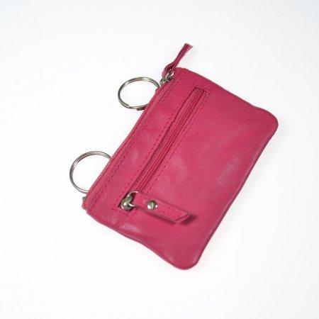 Etui für Schlüssel Farbe pink Material Leder Münzfach Marke Tillberg