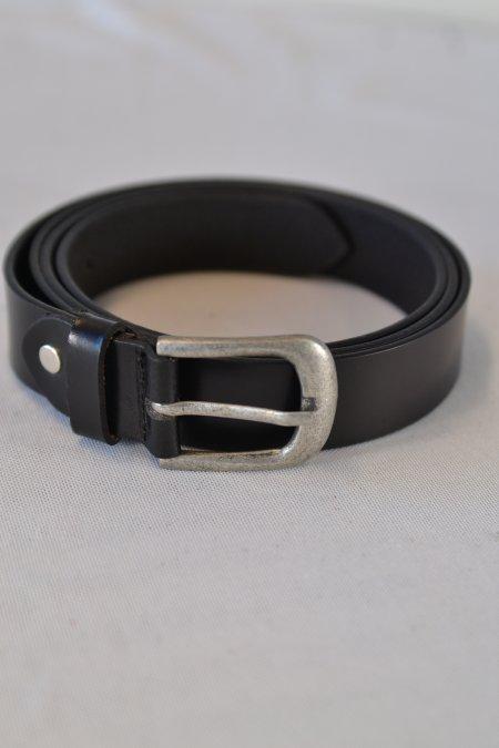 Gürtel Leder schwarz 95 cm Dornschließe silberfarben