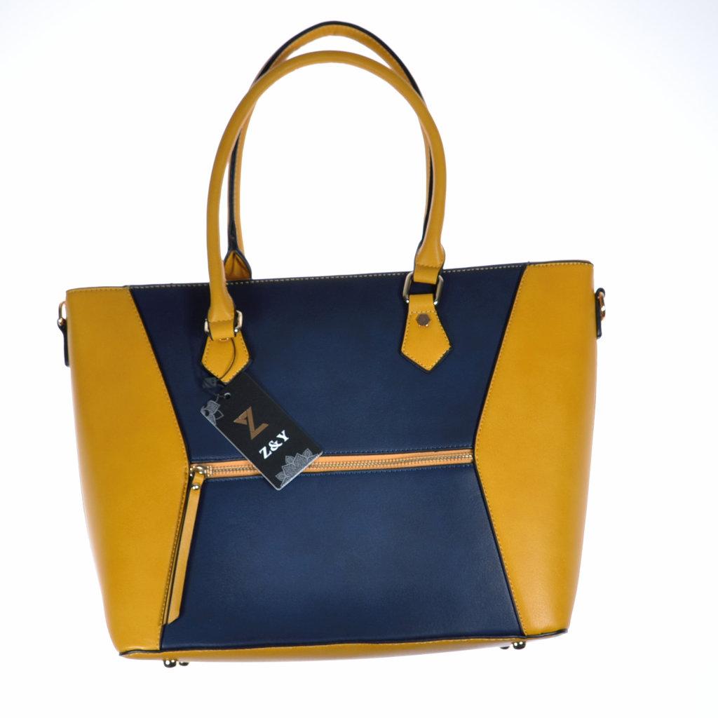 f823b0468c47c Henkeltasche gelb blau Shopper Schultertasche Umhängetasche ...