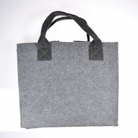 Filztasche hellgrau Stofftasche Einkaufstasche Umwelttasche waschbar