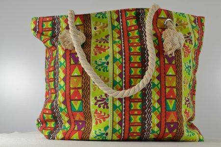 e93fe3e8473ec Schultertasche Blumenmuster bunt Shopper Strandtasche - aby-fashion