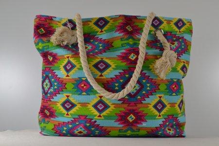 Einkaufstasche Umwelttasche Shopper Türkis Ethnolook
