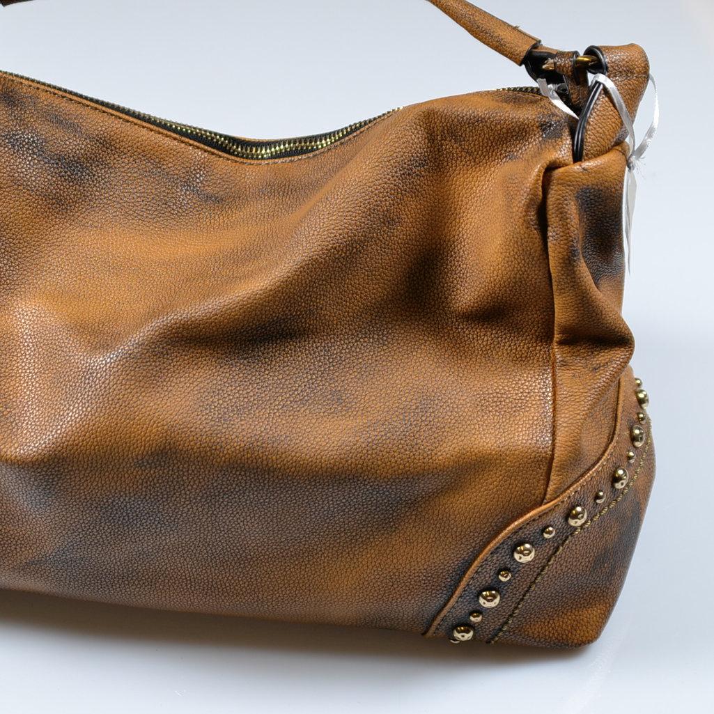 4c2d5ba62f900 Handtaschen Henkeltasche braun Vintage Look Umhängetasche