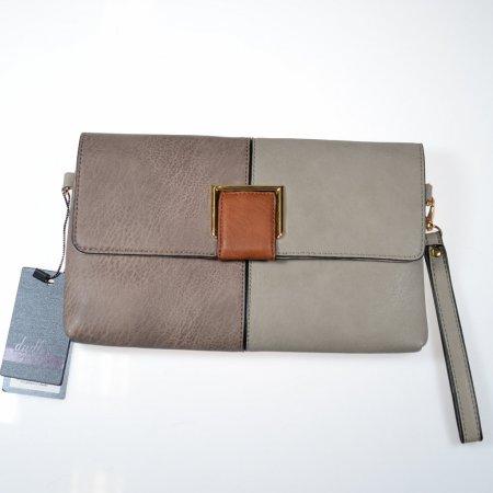 Damenhandtasche Clutch Umhängetasche mehrfarbig Lederoptik