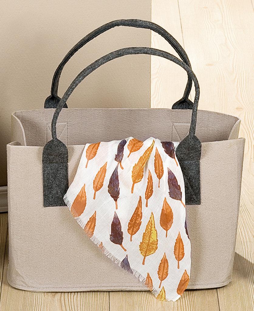 Filztasche Farbe Beige Einkaufstasche umweltfreundlich waschbar