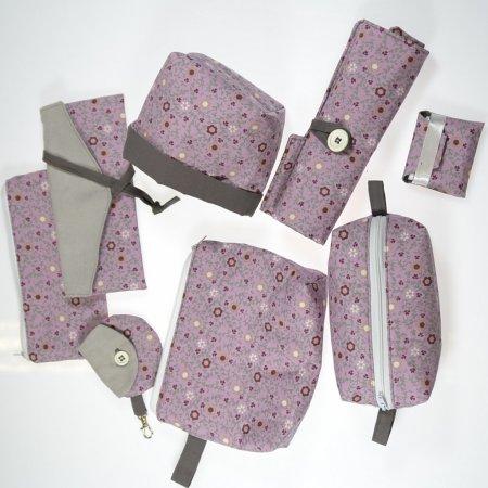 Stofftaschen Set Kosmetiktaschen Handarbeit Unikate lovable by nadine