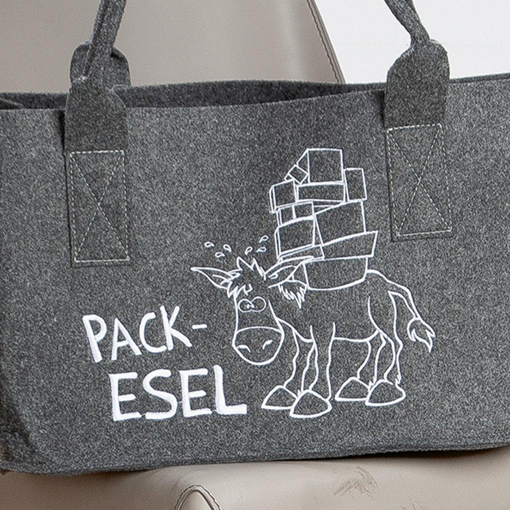 """Filztasche """"Pack-Esel"""" Einkaufstasche waschbar Gilde"""