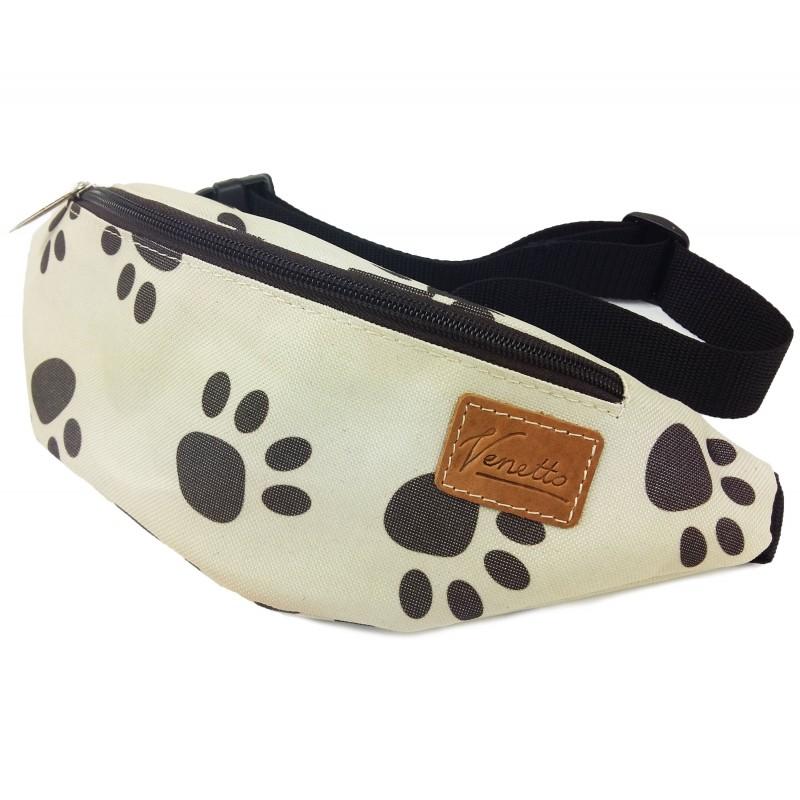 universelle Tasche Gürteltasche Leckerlitasche Motiv Hundetapsen Handarbeit Reißverschlüsse