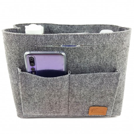 Kulturbeutel bag in bag Farbe grau Taschenorganizer Kulturbeutel Schminktasche