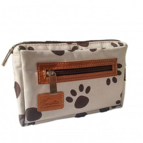 Hundefutter Tasche Leckerli-Tasche Gürteltasche Bauchtasche Farbe Creme Modell rechteckig