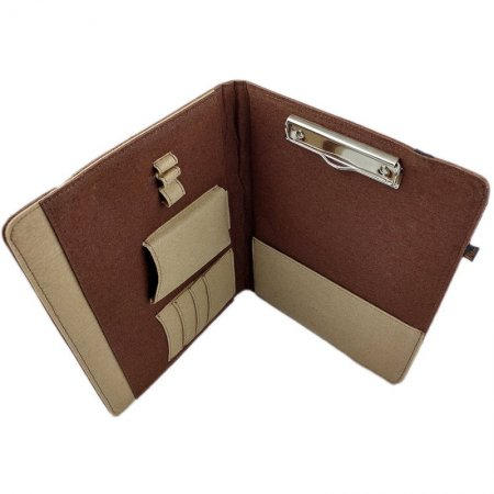 Filzhülle Venetto DIN A4 Organizer Hülle Tablet Smartphone Dokumente Farbe Braun