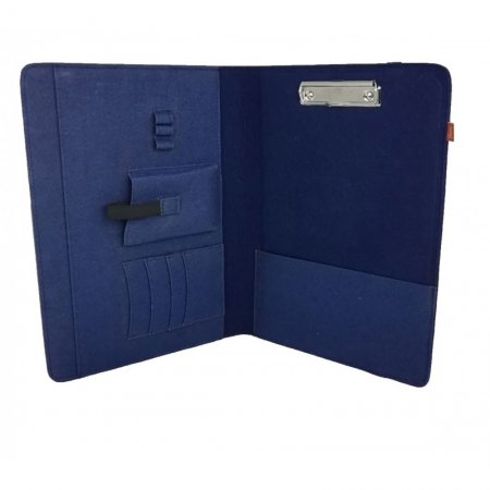 Filzmappe Organizer Tasche Hülle Notebook Filz Farbe dunkelblau Gummiband