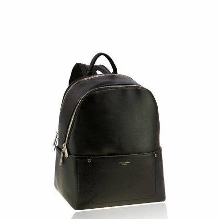 Business Rucksack für die Dame und den Herrn Rucksack Großraum Farbe Schwarz unisex zwei Reißverschlüsse silberfarben