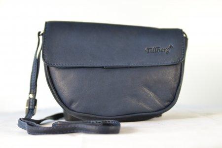 Damenhandtasche Echtleder dunkelblau Umhängetasche Minibag