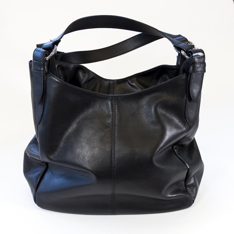 handtasche shopper leder schwarz schultertasche aby fashion. Black Bedroom Furniture Sets. Home Design Ideas