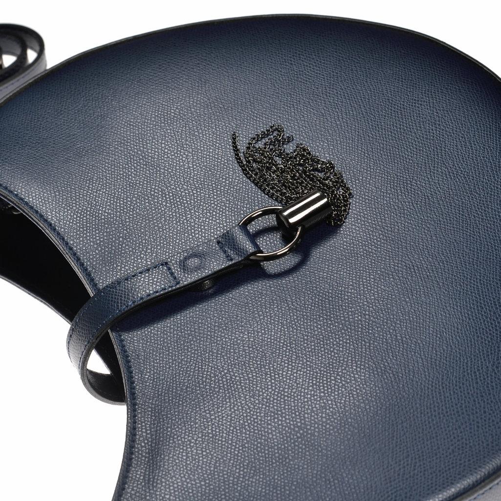 ledertasche handtasche dunkelblau made in italy. Black Bedroom Furniture Sets. Home Design Ideas