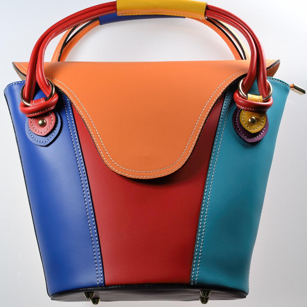 Henkeltasche Bunt Leder Schultertasche Handtasche Damenhandtasche