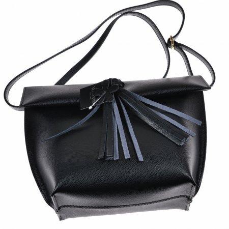 Damenhandtasche Echtleder dunkelblau Schultertasche Abendtasche