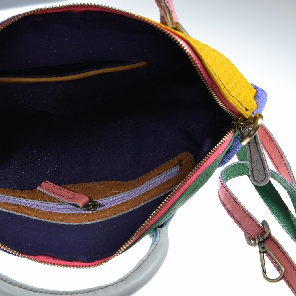 efe3999bab9a5 Damenhandtasche Leder Unikat ebarrito bunt - aby-fashion