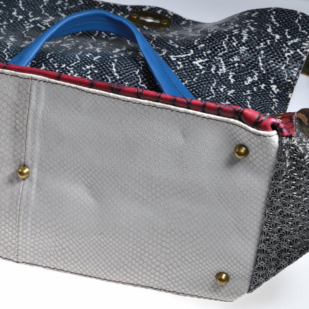 27038cd2c4c23 Henkeltasche Leder bunt handmade ebarrito Schultertasche Damenhandtasche