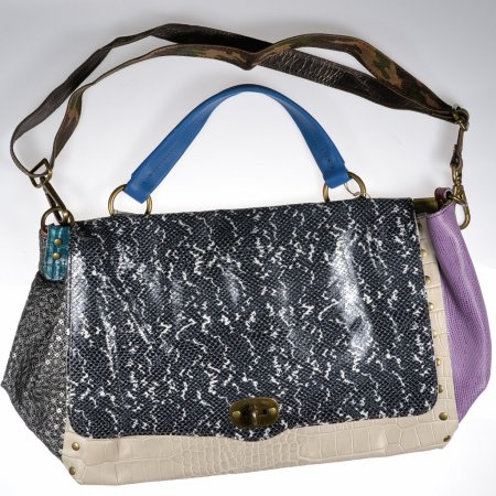 Henkeltasche Leder bunt handmade ebarrito Schultertasche Damenhandtasche