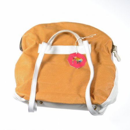 Damenhandtasche Unikat ebarrito grau gelb Rucksack