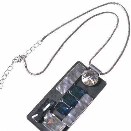Halskette kurz Glitzersteine Statementkette Modeschmuck