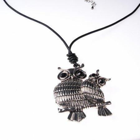 Halskette lang Eulenanhänger Statementkette Damenhalskette