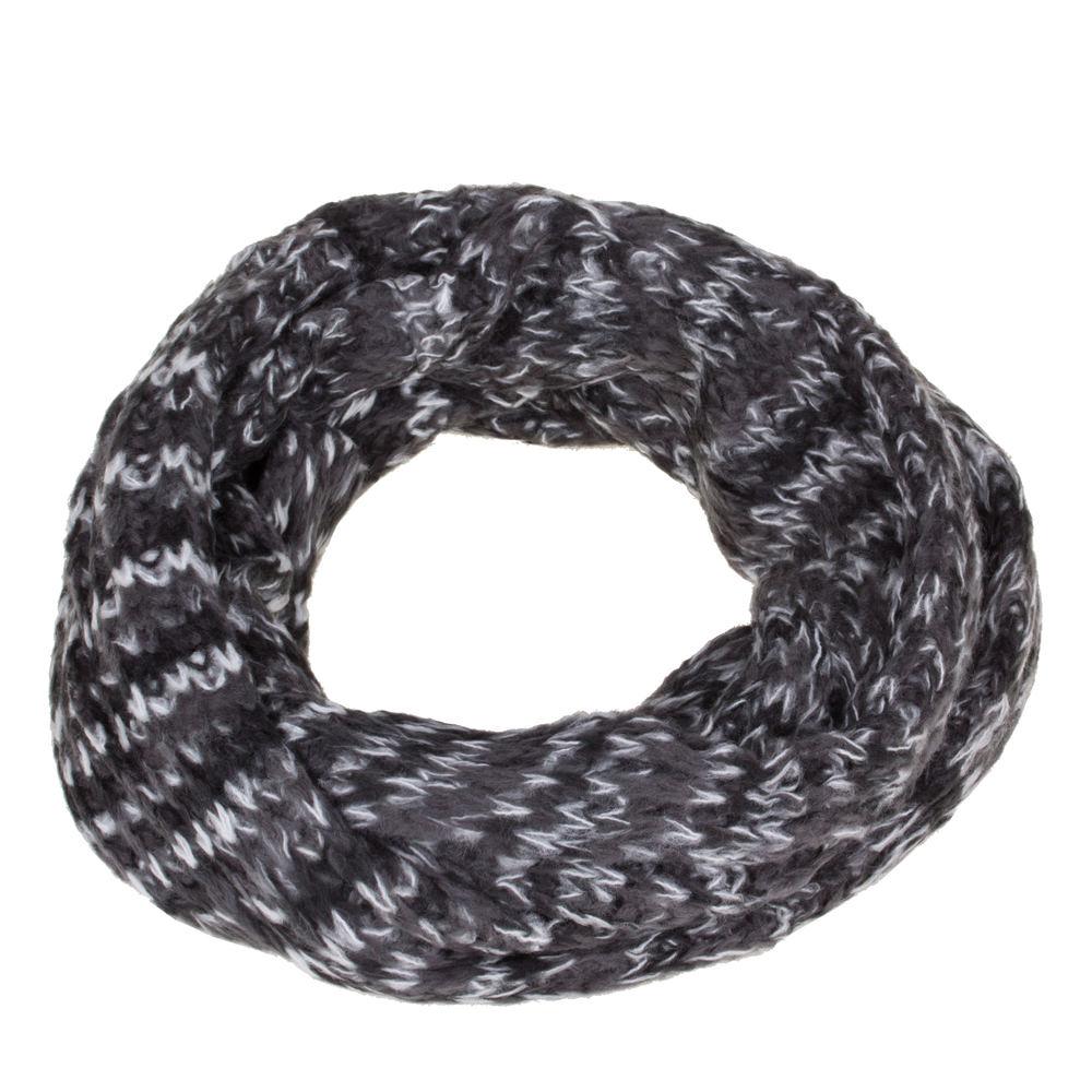 7743658a94bc7b Loop Schlauchschal schwarz weiß grau Schal unisex Acrylic - aby-fashion