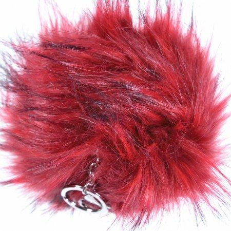 Pompon Puschel rot Taschenanhänger Keychain Schlüsselanhänger