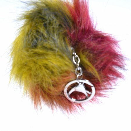 Pompon Puschel mehrfarbig Taschenanhänger Keychain Schlüsselanhänger