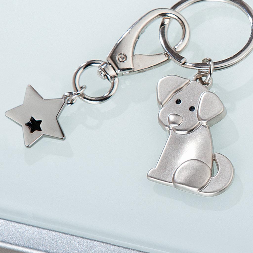 Schlüsselanhänger Hund Gilde Material Metall Hundehalsband Schmuck