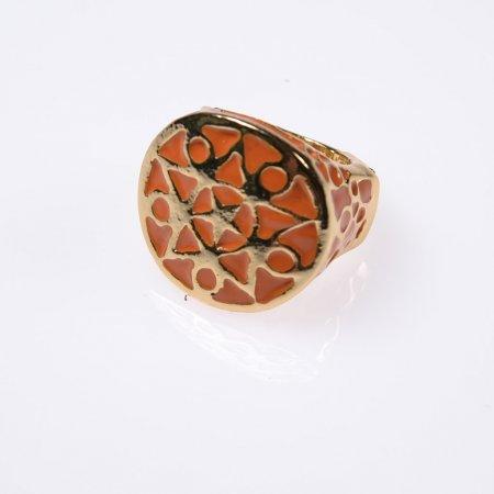 Ring orange goldfarben Accessoire Modeschmuck