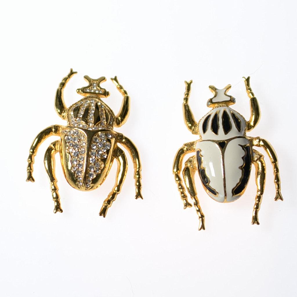 Broschen Set Käfer goldfarben Modeschmuck