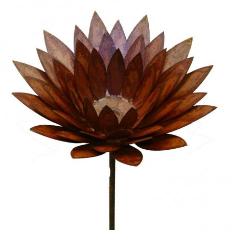 Gartenverschönerung Blume Edelrost Gartenstecker Stab 120cm Metalldekoration